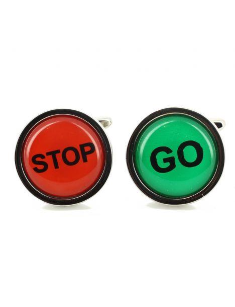Boutons de manchette, Stop and Go Cravate Avenue Signature Bouton de manchette