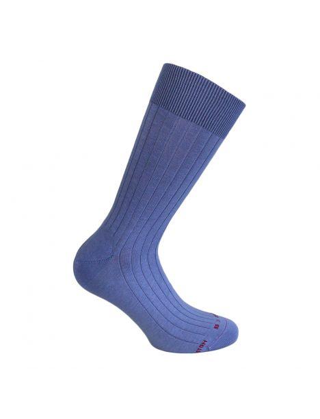 Mi chaussette uni à cotes pur coton, Orrizonte, violet clair Labonal Chaussettes