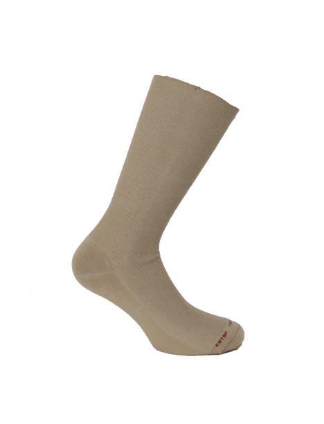 Mi chaussette uni cotes 1x1, Granit, Coton Majoritaire Labonal Chaussettes