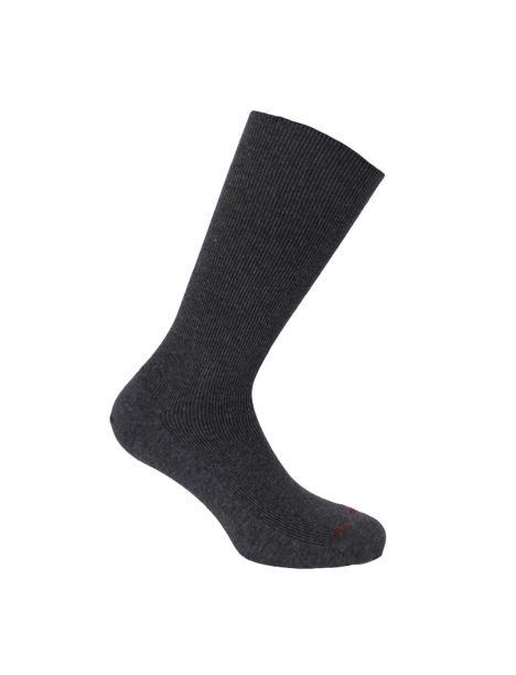 Mi chaussette uni cotes 1x1, Gris foncé, Coton Majoritaire Labonal Chaussettes