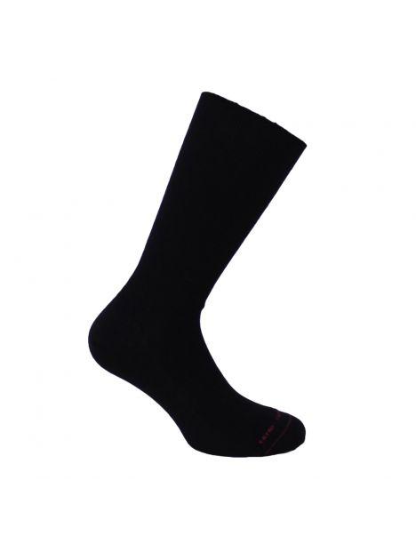 Mi chaussette uni cotes 1x1, Noir, Coton Majoritaire Labonal Chaussettes