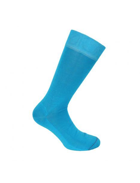 Mi chaussette, 100% fil d'écosse Turquoise. Semelle double Labonal Chaussettes