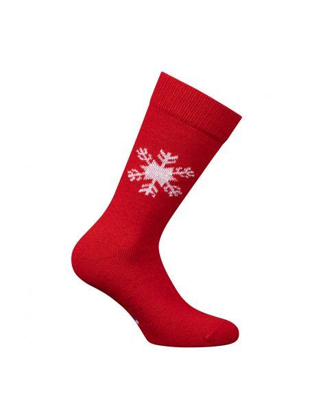 Mi chaussette, flocon Laine et cachemire, rouge Labonal Chaussettes