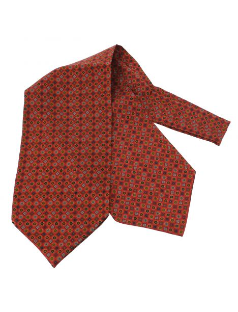 Charles Anatole, Foulard Ascot soie, Victoria, cercles rouge andrinople Tony & Paul Echarpes et chèches