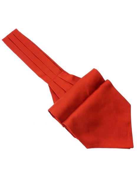 Cravate Ascot en soie, Rouge Geraneo, Fait à la main Tony & Paul Cravates
