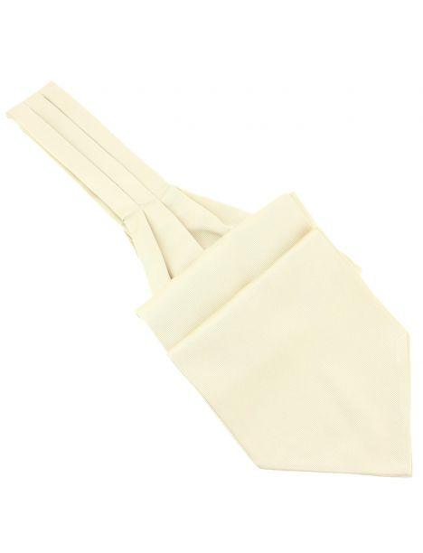 Cravate Ascot en soie, Avorio, Fait à la main Tony & Paul Cravates