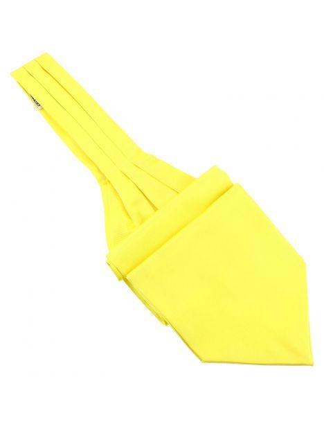 Cravate Ascot en soie, jaune Citron, Fait à la main Tony & Paul Cravates