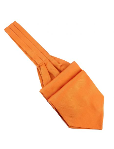 Cravate Ascot en soie, Orange Rame, Fait à la main Tony & Paul Cravates