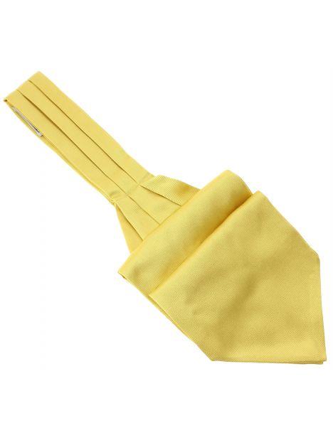 Cravate Ascot en soie, Oro, Fait à la main
