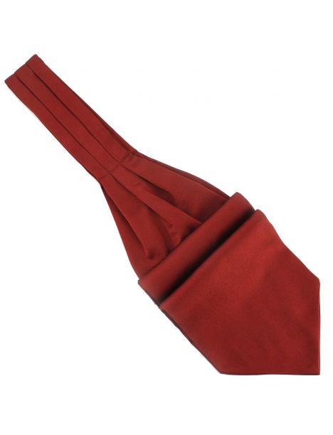 Cravate Ascot en soie, Rouge Peonia, Fait à la main Tony & Paul Cravates