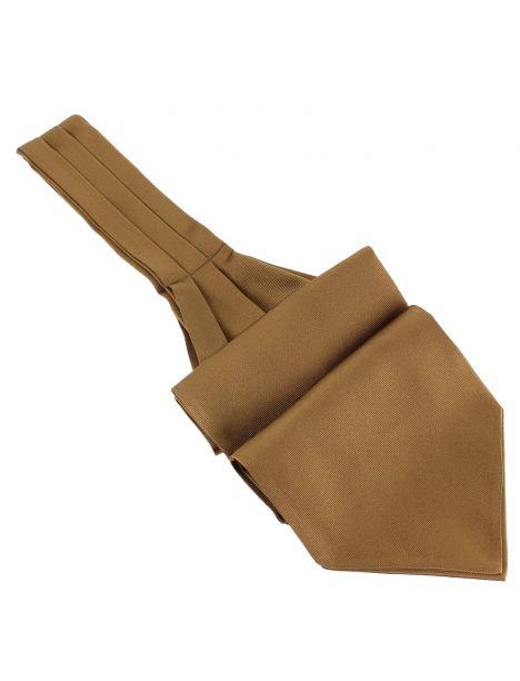 Cravate Ascot en soie, Tabacco, Fait à la main Tony & Paul Cravates