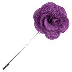 Boutonnière violet, rose sauvage