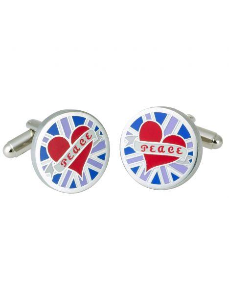 Boutons de manchette, Blue Circular Peace GB, GB Collection