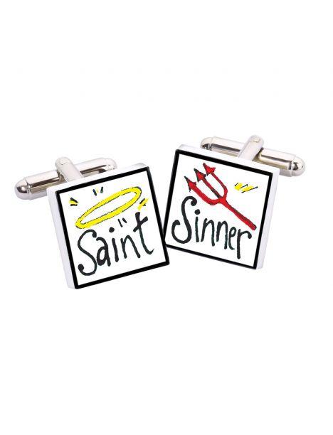 Boutons de manchette, Saint Sinner, Bone China Sonia Spencer Bouton de manchette