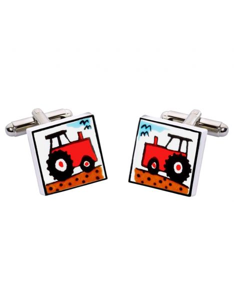 Boutons de manchette, Red Tractor, Tracteur rouge