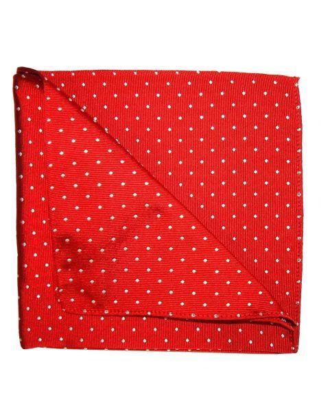 Pochette soie, Spot, rouge points blanc Tyler & Tyler Pochettes