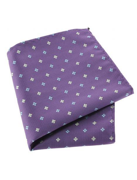 Pochette violet, motifs fleurs Clj Charles Le Jeune Pochettes