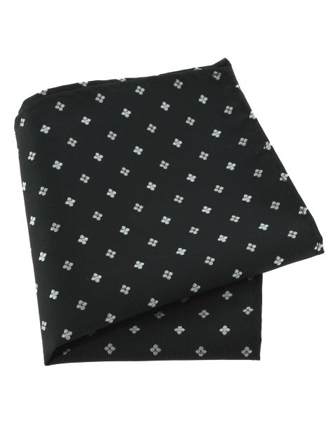 Pochette noir, motifs fleurs Clj Charles Le Jeune Pochettes