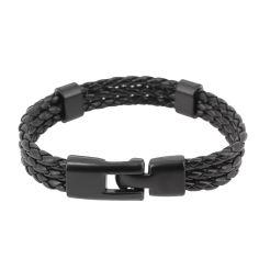 Bracelet tressé, trio, noir