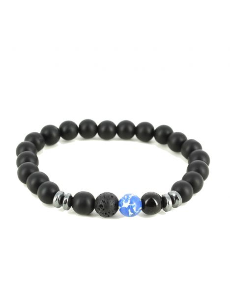 Bracelet Perles d'hématithe Bleu Clj Charles Le Jeune Bracelets Homme