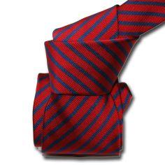 Cravate Classique Segni Disegni, Mogador, Brescia, Rouge marine