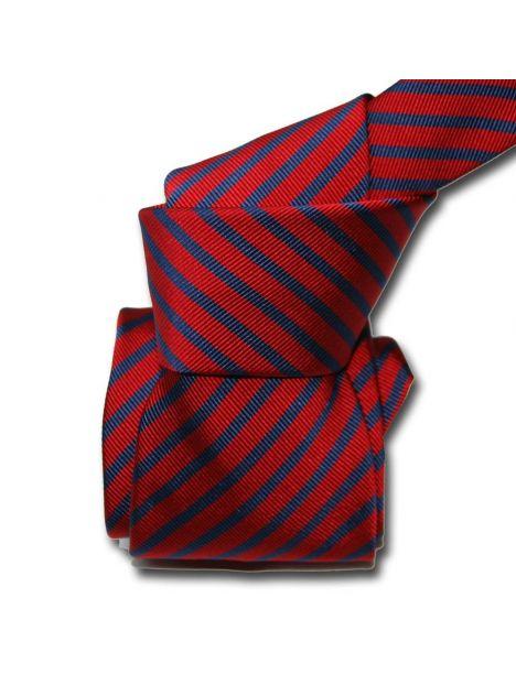 Cravate Classique Segni Disegni, Mogador, Brescia, Rouge marine Segni et Disegni Cravates