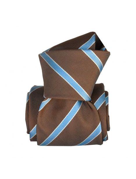 Cravate Segni Disegni LUXE, Faite main, Ekinos Taupe Segni et Disegni Cravates