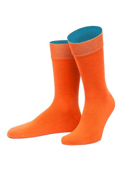 Chaussettes Thrakien Orange et bleu lagon. Von Jungfield Von Jungfeld Chaussettes