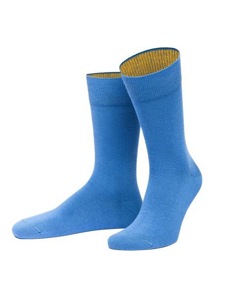 Chaussettes Bermuda bleu mer et jaune colza.Von Jungfield Von Jungfeld Chaussettes