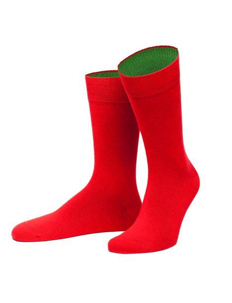 Chaussettes Navarra rouge et vert. Von Jungfield Von Jungfeld Chaussettes