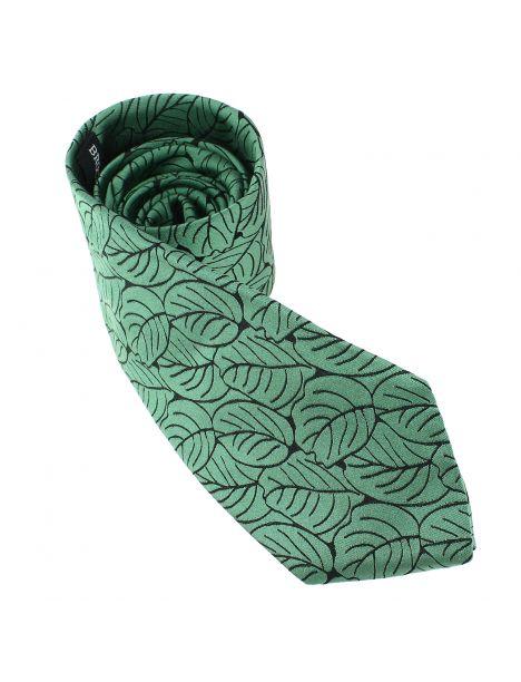 Cravate en soie, Dufy Feuilles vertes Brochier Soieries 1890 Cravates
