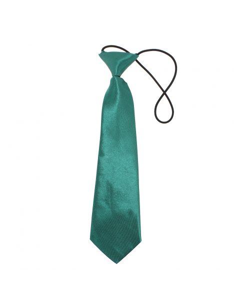 Cravate enfant, vert sapin satiné Clj Charles Le Jeune Cravates