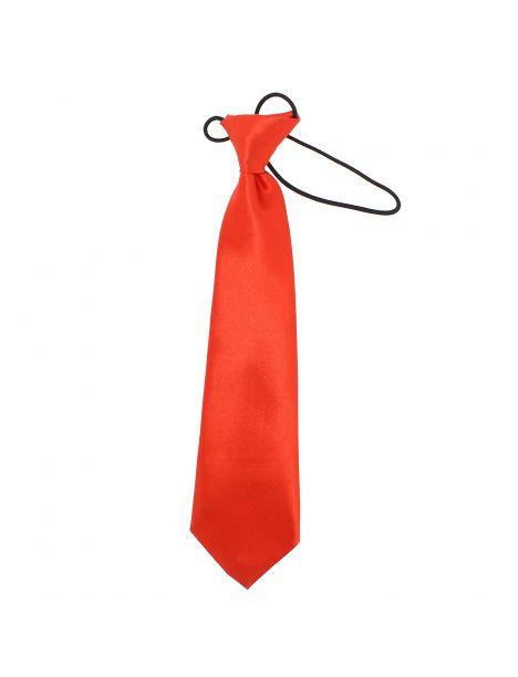 Cravate enfant, Rouge satiné Clj Charles Le Jeune Cravates