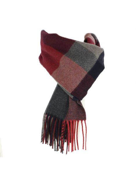 Echarpe carreaux en laine d'Australie, Uplands rouge Tony & Paul Echarpes et chèches