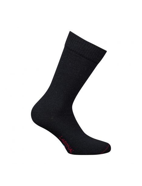 Mi-chaussette noire unie laine et cachemire, Labonal Labonal Chaussettes