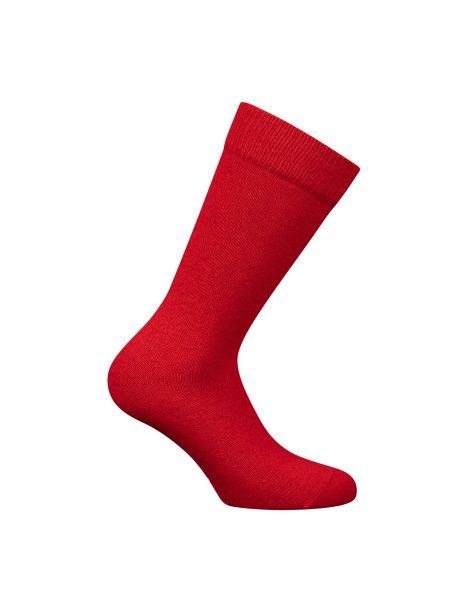 Mi-chaussette rouge unie laine et cachemire, Labonal Labonal Chaussettes