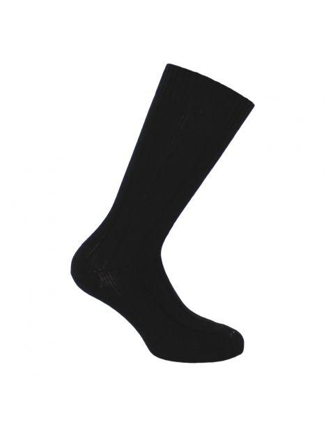 Mi-chaussette noire grosses mailles à côtes, Labonal Labonal Chaussettes