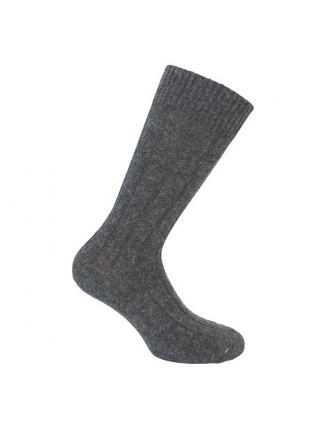 Mi-chaussette anthracite grosses mailles à côtes, Labonal Labonal Chaussettes