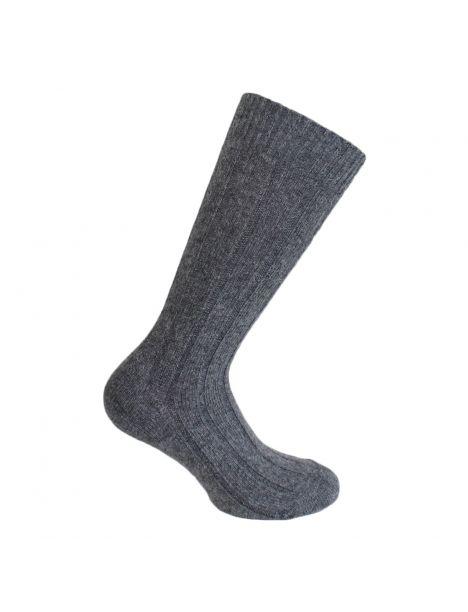 Mi-chaussette gris moyen grosses mailles à côtes, Labonal Labonal Chaussettes