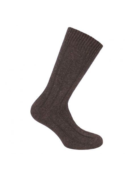 Mi-chaussette marron grosses mailles à côtes, Labonal Labonal Chaussettes