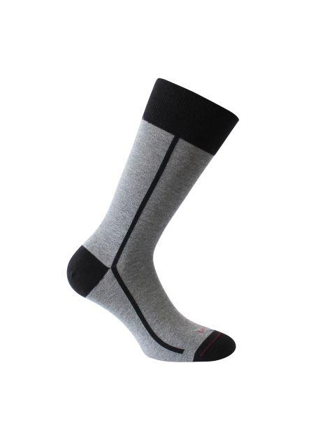 Mi-chaussette grise bicolore, Elegant style, coton bio. Labonal. Labonal Chaussettes