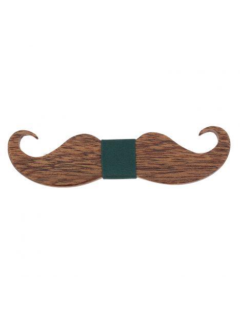 Noeud papillon en bois, Big Moustache noir. Tony & Paul. Tony & Paul Noeud Papillon