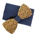 Coffret Angles, Noeud papillon en bois et pochette bleu étoilé, Tony et Paul Tony & Paul Noeud Papillon