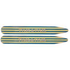 Baleines de col, Tyler & Tyler, Collar Stiffener Pinstripe, Yellow, Wallet Tyler & Tyler Baleines de col