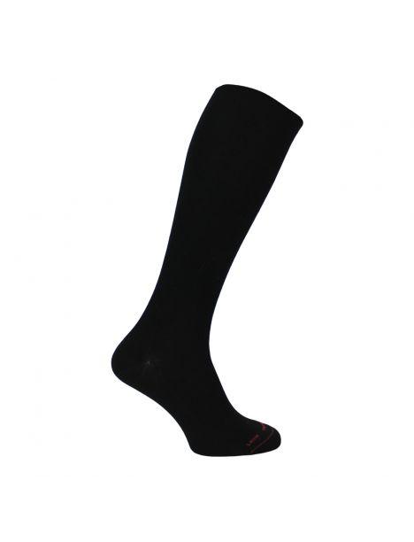 Mi-bas noir en laine uni non comprimant, Labonal Labonal Chaussettes