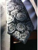 Cravate CLJ, Calvi, Roses grises Clj Charles Le Jeune Cravates