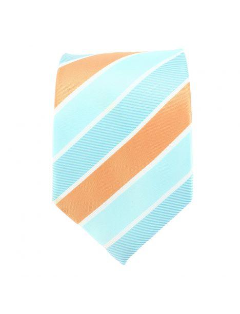 Cravate club orange et verte Clj Charles Le Jeune Cravates