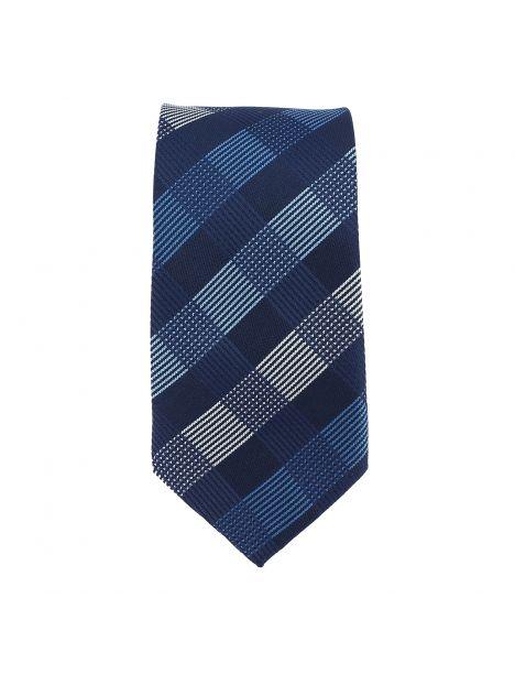 Cravate scottish bleu marine Clj Charles Le Jeune Cravates