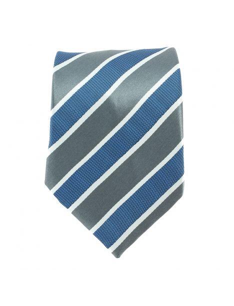Cravate club bleu et grise Clj Charles Le Jeune Cravates