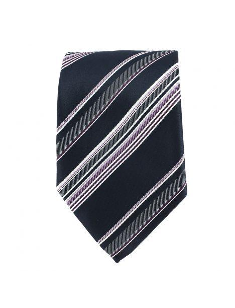 Cravate club marine et mauve Clj Charles Le Jeune Cravates
